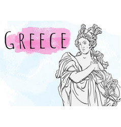 beautiful greek goddess the mythological heroine vector image