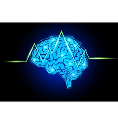 brain with wave vector image