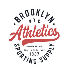 brooklyn varsity style t shirt design vector image