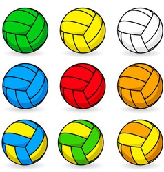 Cartoon volleyball vector