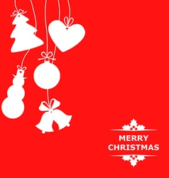 christmas baubles red vector image