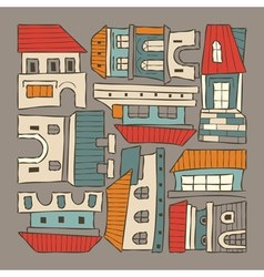 City houses houses vector