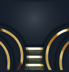 color abstract geometric banner with gold shapes vector image