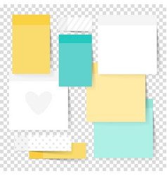 colored note stickers set vector image