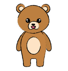 cute and tender bear character vector image