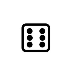 Dice line icon gambling outline logo vector