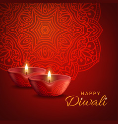 diwali indian festival lights poster vector image