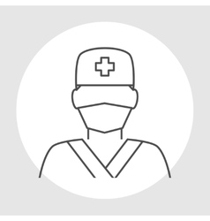 Doctor avatar line icon vector