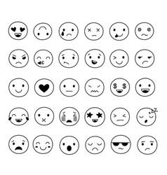 doodle smile emoticons image emoticon doodling vector image