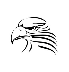 Eagle head image vector