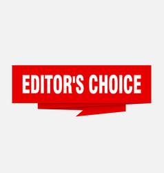 Editors choice vector