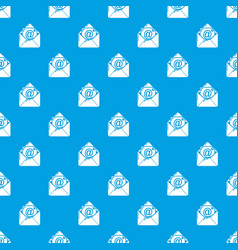 email pattern seamless blue vector image