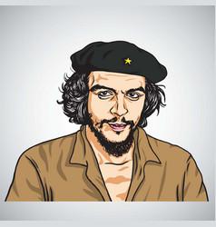 Ernesto che guevara portrait vector