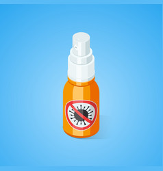 Ethyl antibacterial and antiviral spray for hands vector