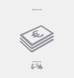 euro banknote flat icon vector image