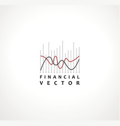 financial stock exchange market charts logo design vector image