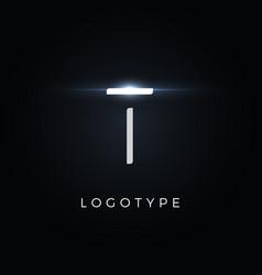 Futurism style letter t minimalist type vector