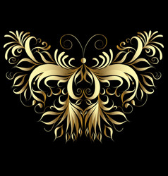 Gold butterfly patterned vector