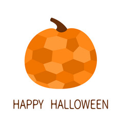 happy halloween pumpkin crystal in geometric vector image