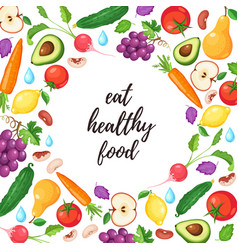 Healthy eating poster vector