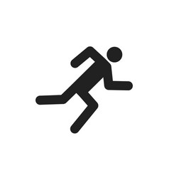 icon runner run man on track silhouette vector image