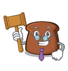 Judge brown bread mascot cartoon vector