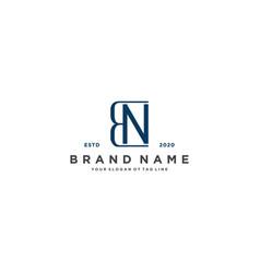 Letter bn logo design vector