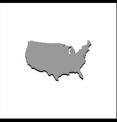 Map usa with a shadow on a white background vector