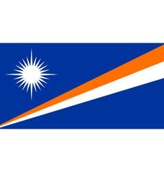 Marshallese flag vector