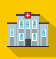medical center building icon flat style vector image