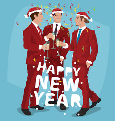 mens christmas party concept vector image
