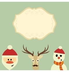 Merry Christmas Christmas characters vector image