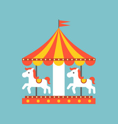 merry go round vector image