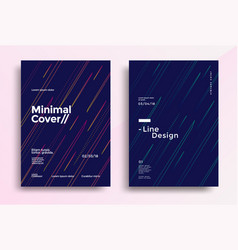 minimal covers design with color simple line vector image