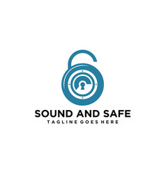 Modern safe and sound logo vector