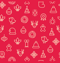 monotone merry christmas symbols seamless pattern vector image