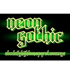 neon gothic 01 vector image