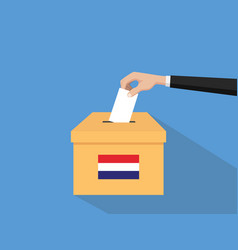 netherlands vote election concept vector image