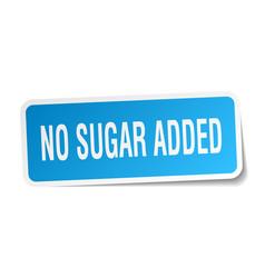 No sugar added square sticker on white vector