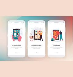 Online shopping design mobile application vector