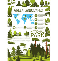 park tree poster for landscape architecture design vector image