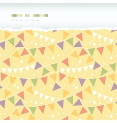 Party Decorations Bunting Horizontal Torn Seamless vector image