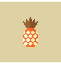 Pineapple Food Flat Icon vector