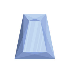 Precious stone icon flat style vector
