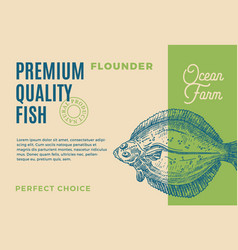 Premium quality flounder abstract fish vector