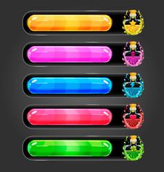 Progress bar for games with elexir bottle vector