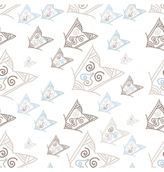 Seamless pattern with hand-drawn arrows vector
