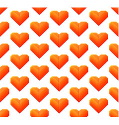 seamless pattern with hearts isolated on white vector image