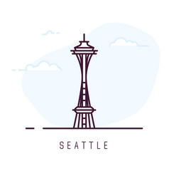 Seattle line style vector
