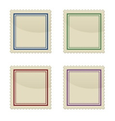 Set of stamp vector image